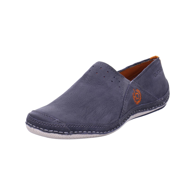 bugatti canario herren slipper leder blau f24761425 ebay. Black Bedroom Furniture Sets. Home Design Ideas