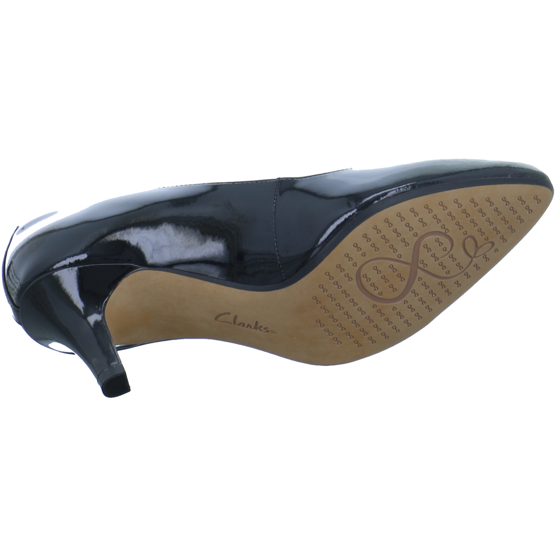 Clarks Somerset Isidora Damen Schuhe Pumps Isidora Somerset Faye Lack Schwarz klassisch elegant 126a05