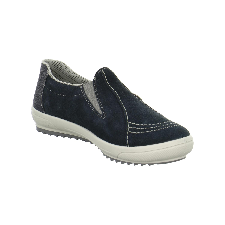 rieker damen halbschuhe slipper rauleder blau m6052 14 ebay. Black Bedroom Furniture Sets. Home Design Ideas