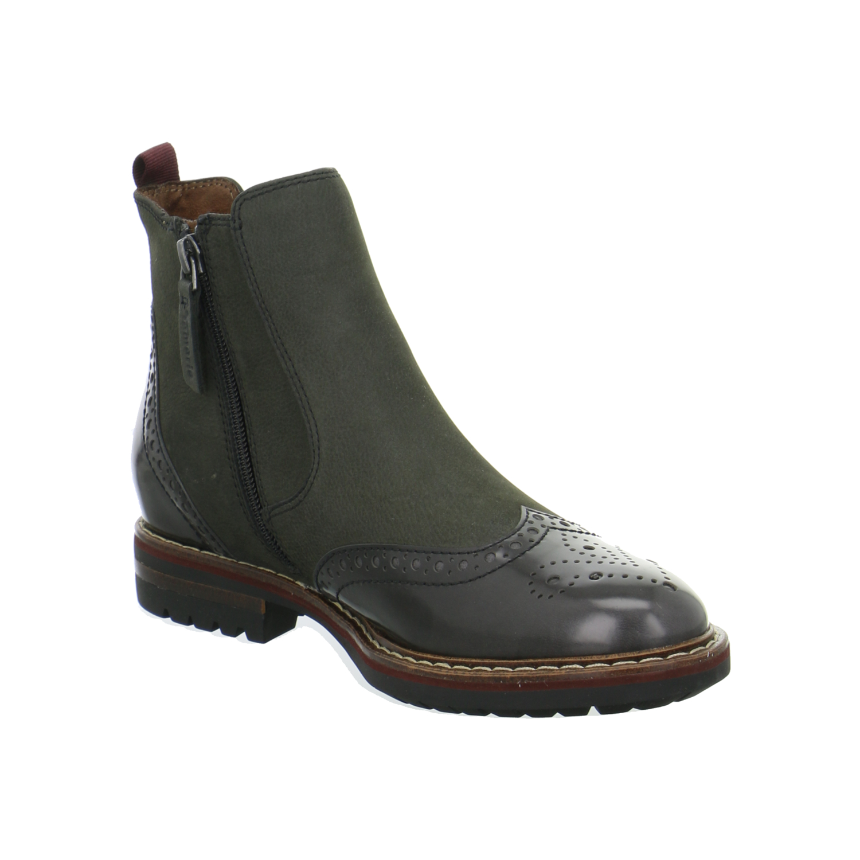 tamaris damen schuhe stiefeletten boots chelsea grau budapester jenna ebay. Black Bedroom Furniture Sets. Home Design Ideas