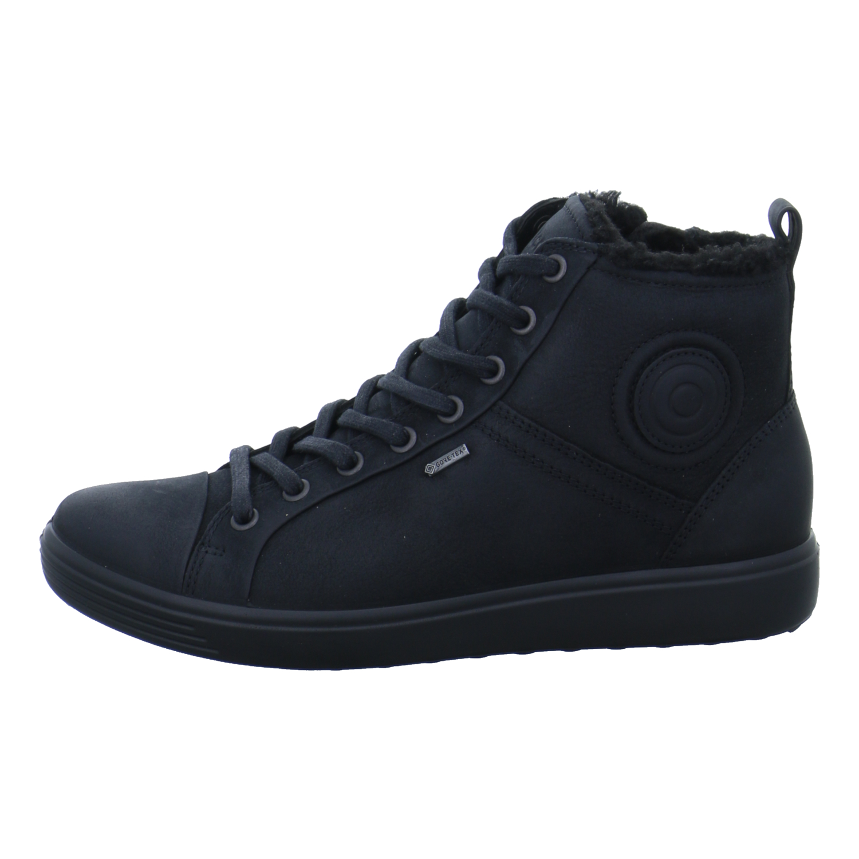 the latest 9f1f8 f0d4a Details zu Ecco Damen Schuhe Stiefel Boots Stiefeletten Hi Sneaker Soft 7  Schwarz Winter