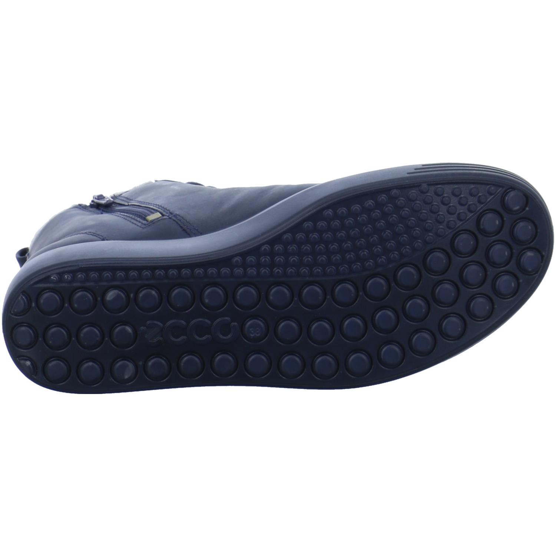 Ecco Damen Schuhe Sneaker Hi Stiefeletten Blau Soft 7 Winter Warmfutter