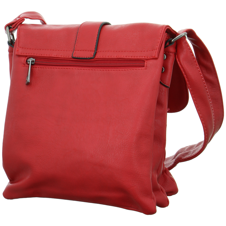 CASA di NOVA Schultertasche Kunstleder Rot 11431-RED