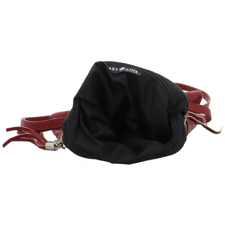 East Line Damen Tasche Umhängetasche Rot Leder Schultertasche