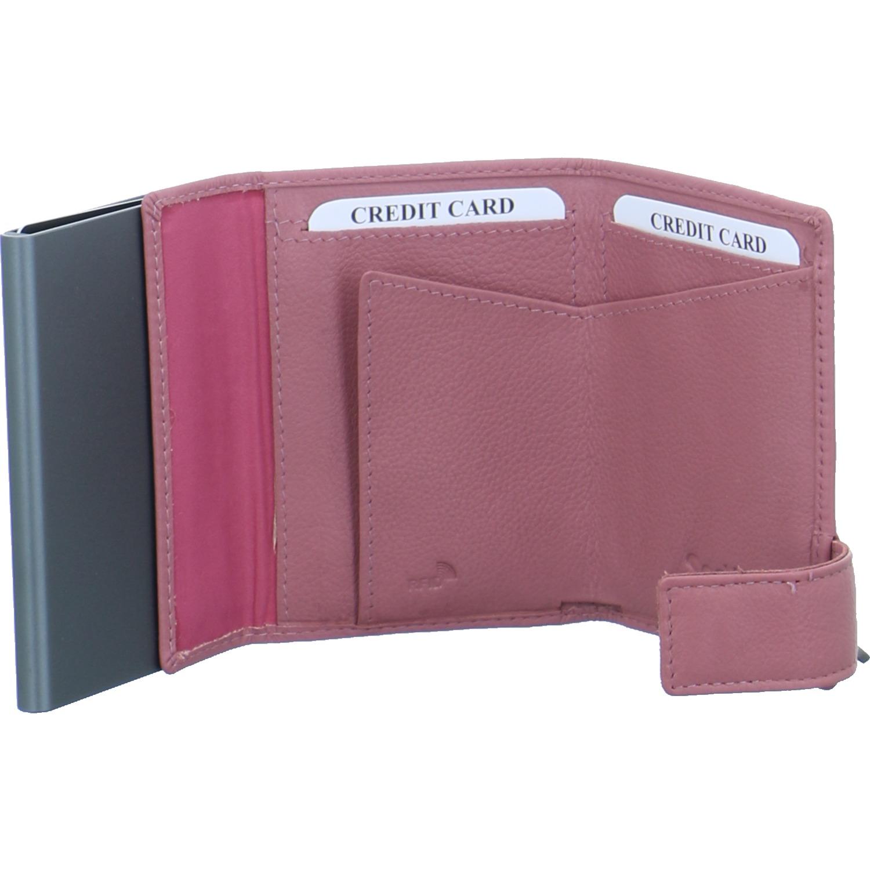 SecWal-Kartenetui-mit-Geldboerse-Leder-Altrosa-East-Line-Druckknopf-RFID-Safe