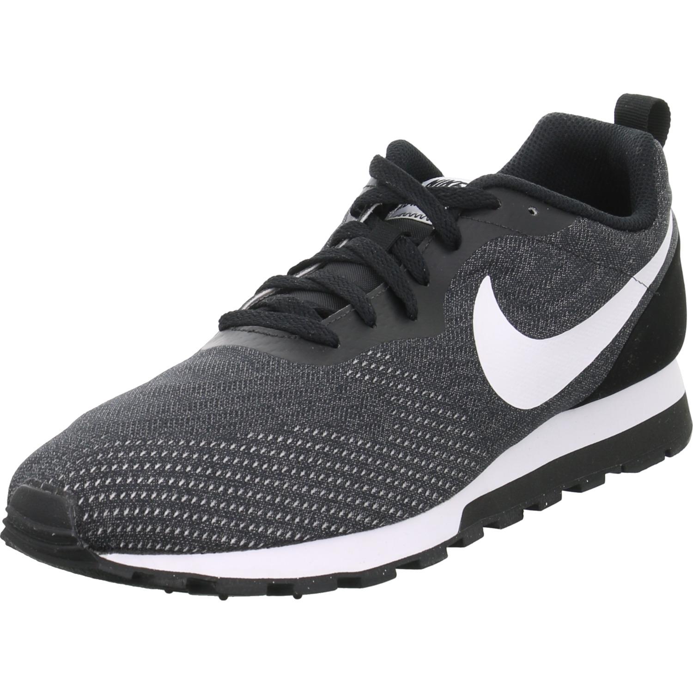 Nike Herren Schuhe Sneaker MD Runner 2 ENG Mesh Schwarz Schnürer Sport Training
