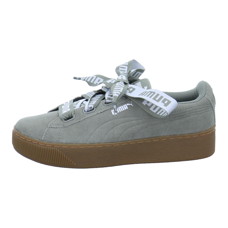 Puma Damen Vikky Platform Ribbon Bold Damen Puma Schuhe Sportschuhe Sneaker  Niedrig Grün Rock 87f84d 3f35332a17