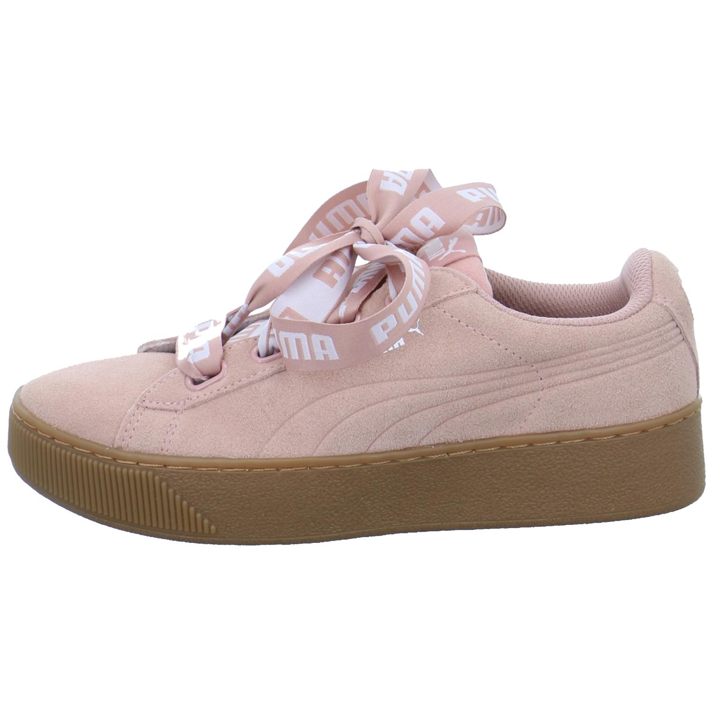 Puma Vikky Platform Ribbon Bold Damen Schuhe Sportschuhe Sneaker Low Peach